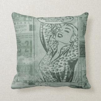 Vintage Comic Pillow