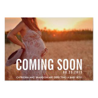 Vintage Coming Soon Photo Pregnancy Announcement