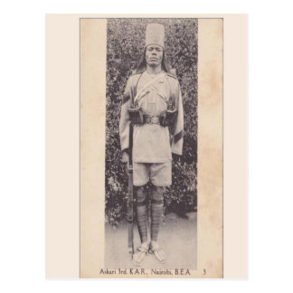 Vintage, Commonwealth soldier, Nairobi, Kenya Postcard