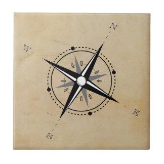 Vintage Compass Rose Adventure Exploration Tile
