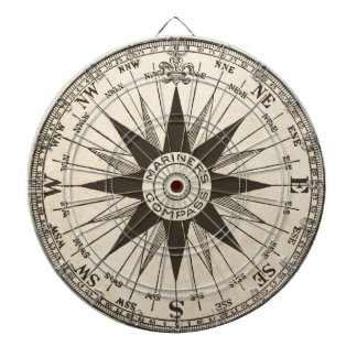Vintage Compass Rose Dartboard