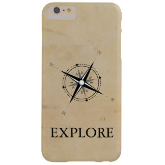 Vintage Compass Rose Explore Barely There iPhone 6 Plus Case