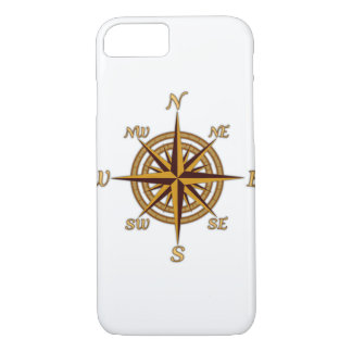 Vintage Compass Rose iPhone 7 Case