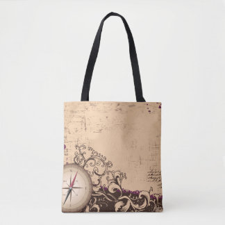 Vintage Compass Tote