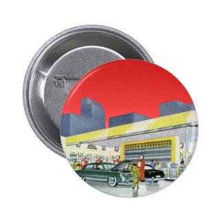 Vintage Complete Car Service Garage Auto Mechanics Pinback Buttons