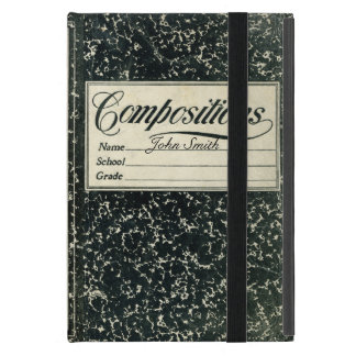 Vintage Composition Distressed Book Cover For iPad Mini