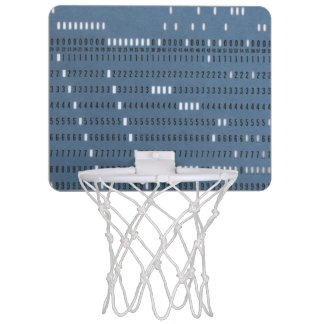 Vintage Computer Punched Card Mini Basketball Hoop