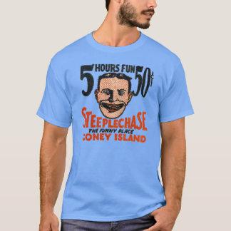 Vintage Coney Island Funny Face Design T-Shirt