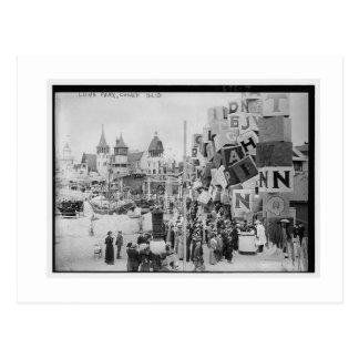 Vintage Coney Island, Luna Park Postcard