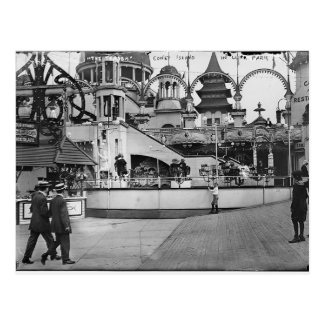 Vintage Coney Island Photograph Postcard