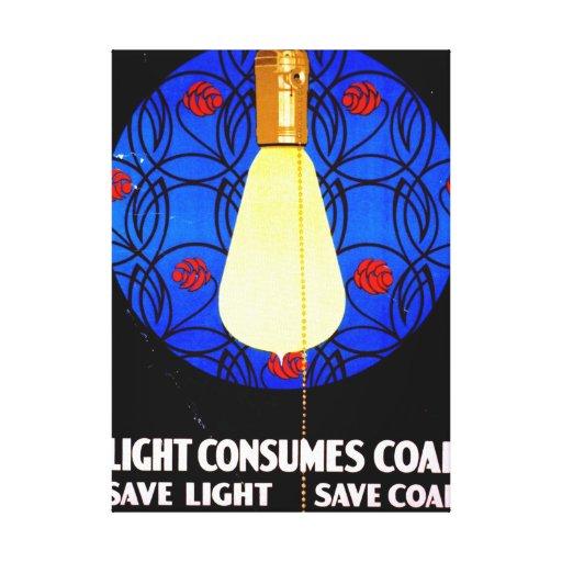 Vintage Conservation Poster 1917 Canvas Print