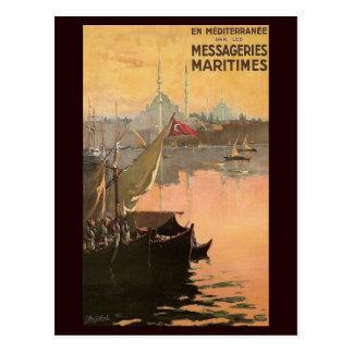 Vintage Constantinople Travel Advertisement Postcard
