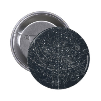 Vintage Constellation Map 2 Inch Round Button