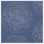 Vintage Constellation Map (Navy) Fabric