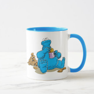 Vintage Cookie Monster Eating Cookies Mug