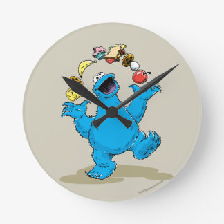 Vintage Cookie Monster Juggling Round Clock