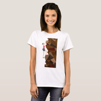 Vintage Cool Girl Rock Climbing T-Shirt