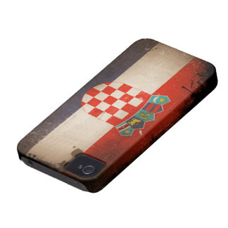 Vintage Cool Grungy Croatia Flag Design Case-Mate iPhone 4 Cases