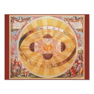 Vintage Copernican Solar System Invitation