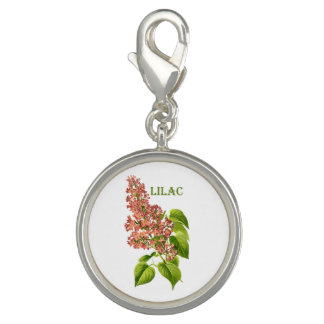 Vintage Coral Lilac Spring Garden Flower Photo Charm