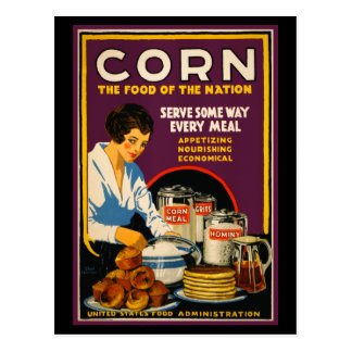 Vintage 'Corn - The food of the nation' Postcard