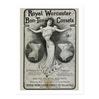 Vintage Corset Ad Postcard