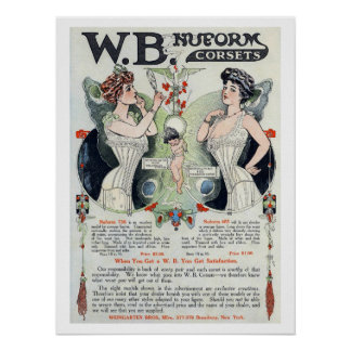 Vintage Corset Ad Print 3 Poster