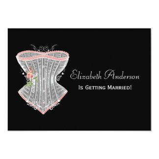 Vintage Corset Personal Lingerie Bridal Shower Card