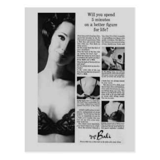 Vintage corsets, Bali Postcard