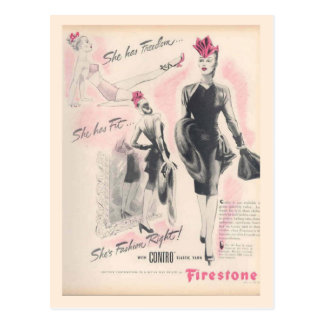 Vintage corsets, Firestone Postcard