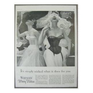 Vintage corsets, Warfners Merry Widow Postcard