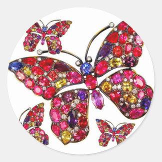 Vintage Costume Jewelry Rhinestones Diamonds Round Sticker