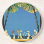 Vintage Cote D'Azur French Travel Coaster