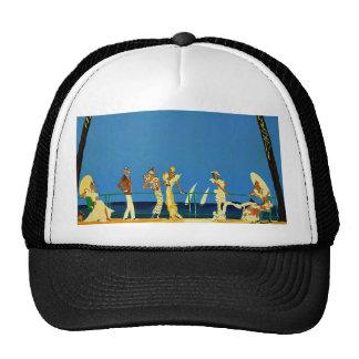 Vintage Cote D'Azur French Travel Trucker Hat