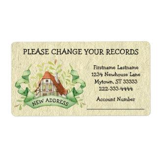 Vintage Cottage Change Your Records Address Label