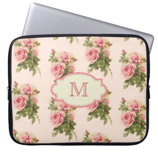Vintage Cottage Rose Monogram Case