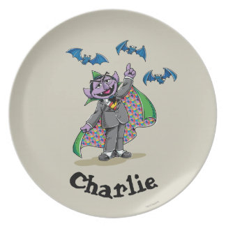 Vintage Count von Count | Add Your Name Party Plate