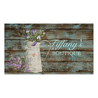 vintage  country barnwood lavender floral fashion business card