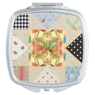 Vintage Country Charm Evening Star Quilt Pattern Makeup Mirror