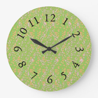 Vintage-Country-Cotton_Apple Green*_Floral Wallclock