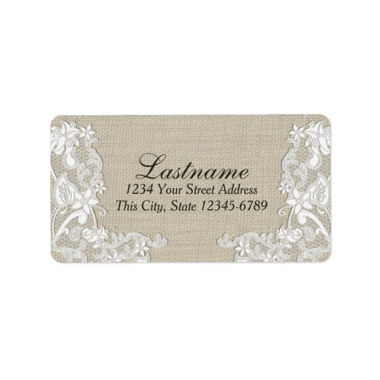 Vintage Country Floral Lace Label