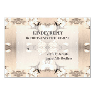 Vintage Country Floral Wedding RSVP Card