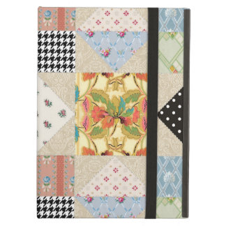 Vintage Country Style Evening Star Quilt Pattern Cover For iPad Air