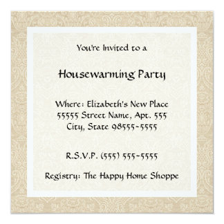 Vintage Country Style Quilt Housewarming Party Card
