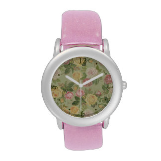 Vintage Country Weathered Floral Wrist Watch