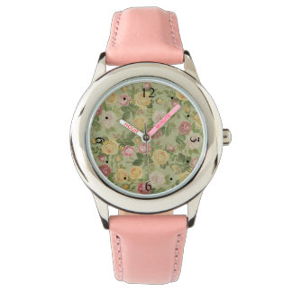 Vintage Country Weathered Floral Watch