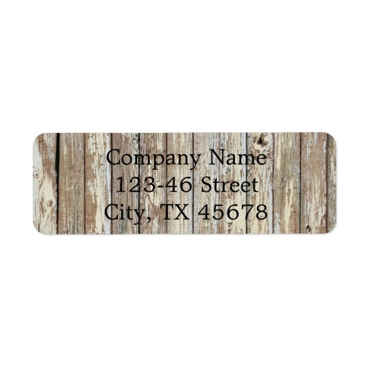 vintage country wood grain construction business return address label