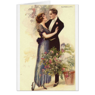 Vintage Couple - A Loving Embrace, Card