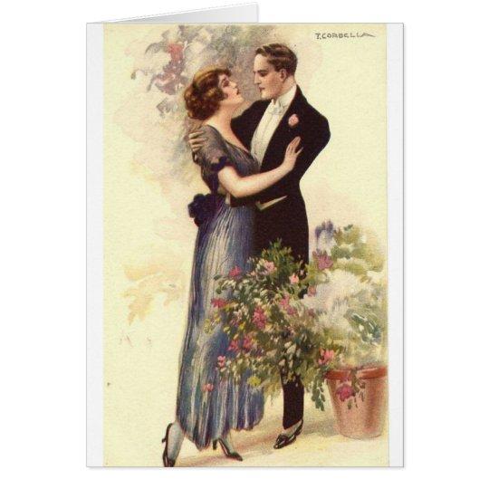 Vintage Couple - A Loving Embrace, Card