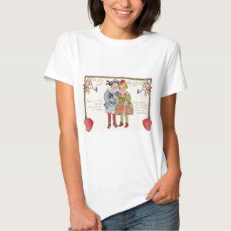 Vintage Couple Holding Hands Cherubs Valentine T-shirt